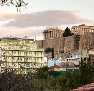 The ancient Acropolis of Athens one of the world's amazing wonders, built thousands of years ago.