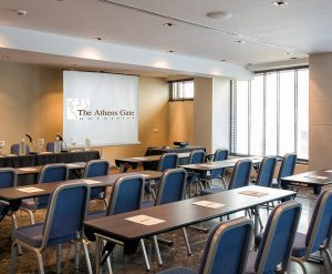 The Athens Gate Hotel Meetings & Events photo gallery. A collection of photos of the meeting rooms.